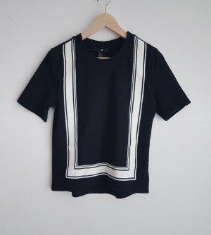 T-Shirt Gr XS / 34, schwarz weißer Rahmen