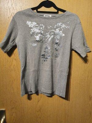 Ambria Camicia fantasia argento Cotone
