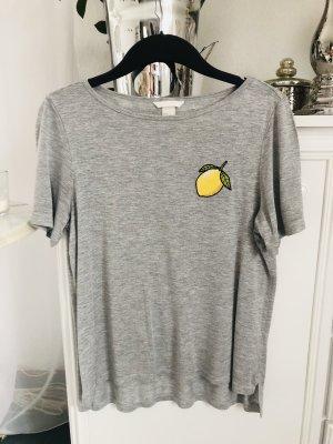 T-Shirt / grau-meliert / Gr. S