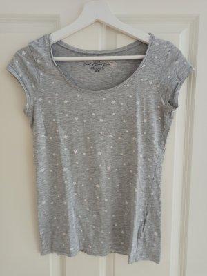 T-Shirt grau mit Sternen H&M Gr. S