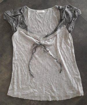 Promod T-shirt zilver-grijs