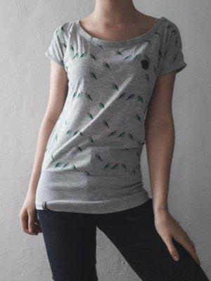 T-Shirt grau Vögel