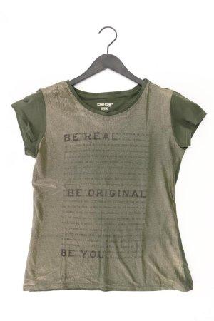 T-Shirt Größe M Kurzarm olivgrün aus Baumwolle