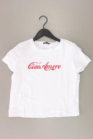 T-Shirt Größe M Kurzarm weiß aus Baumwolle