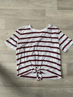 H&M Camisa recortada blanco
