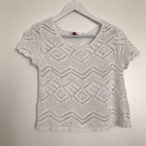 T-Shirt H&M Häkelmuster Größe S