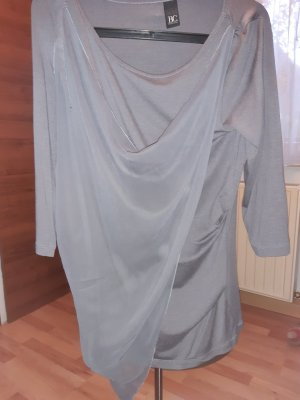 BC Collection Cowl-Neck Shirt silver-colored polyester