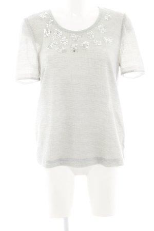 T-Shirt hellgrau-grau meliert Casual-Look