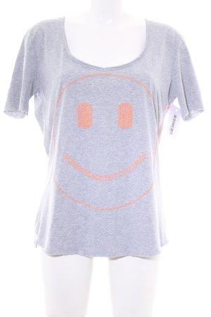 T-shirt jasnoszary Melanżowy W stylu casual