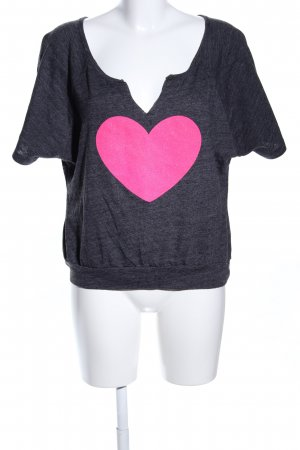 Jennifer Moore T-Shirt hellgrau meliert Casual-Look