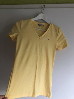 Tommy Hilfiger V-hals shirt lichtgeel