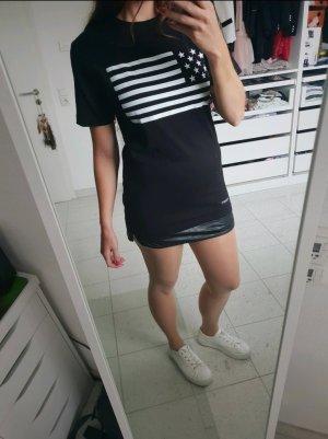 Cayler & Sons T-shirt jurk wit-zwart