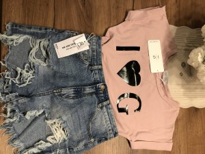 Camicia fantasia color oro rosa