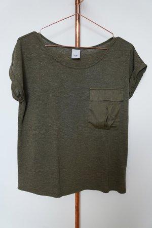 Ichi Camiseta Básico caqui-verde oliva