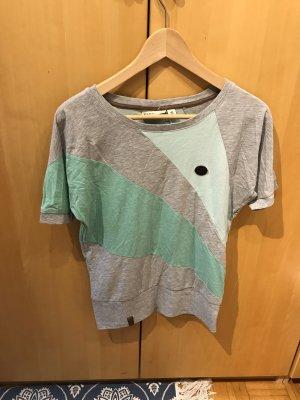 T– Shirt in Gr.36/S von Naketano in grau/ grün, neu .