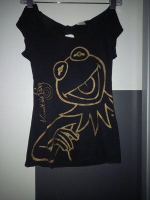 Disney T-shirt czarny-złoto