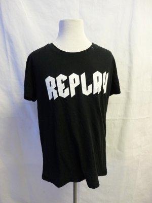 T-Shirt in Schwarz Gr. S Replay getragen
