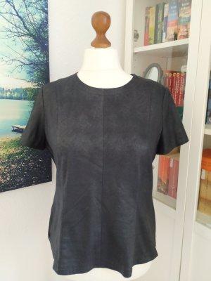 S.Oliver Premium Empire shirt zwart Gemengd weefsel