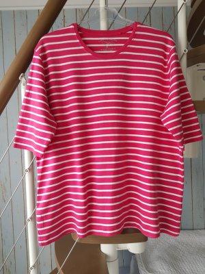Clarina Camisa de rayas blanco-rojo frambuesa