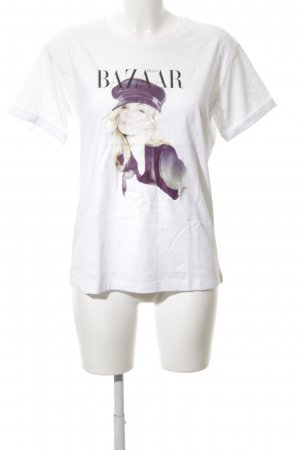 """T-Shirt """"initielle"""" weiß"""