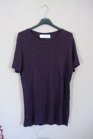 T-Shirt, IRO, Longshirt, bordeaux, aubergine
