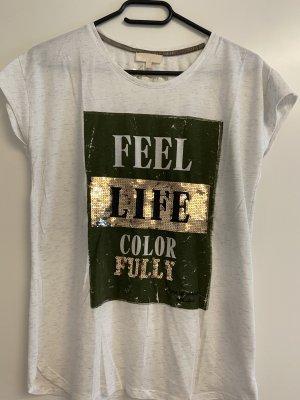 T-Shirt Khaki/Gold
