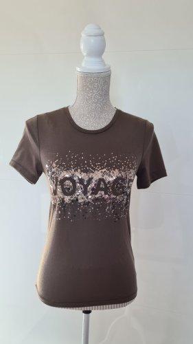 T-Shirt - khaki - Größe 34 XS - Pailletten - Only