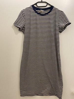 H&M Basic Shirt Dress natural white-dark blue