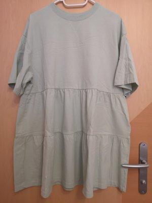 H&M Vestido estilo camisa verde grisáceo-menta