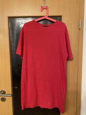 Zara Sukienka o kroju koszulki czerwony neonowy-różowy neonowy