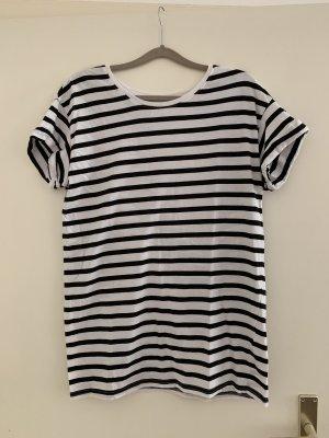 H&M Robe t-shirt blanc-noir
