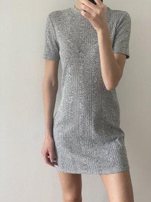 C&A Mini vestido color plata-gris claro