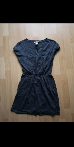 H&M Robe t-shirt gris anthracite