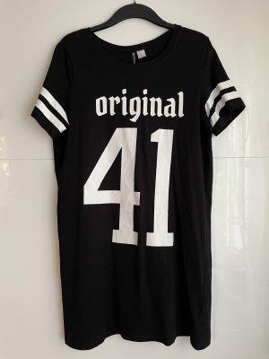 H&M Divided Sukienka o kroju koszulki czarny-biały