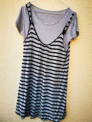 t-shirt Kleid, Gr M, grau-schwarz gestreift