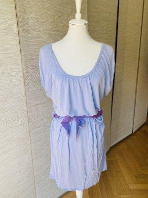 T-shirt Kleid Longshirt in Flieder