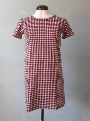 T-Shirt Kleid mit Karomuster