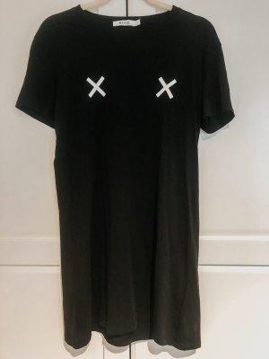 T-Shirt-Kleid mit Kreuzen