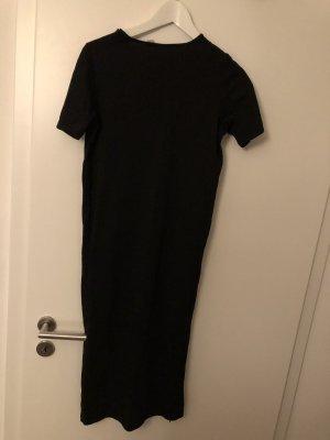 T-Shirt Kleid mit Schlitz 36 schwarz ASOS
