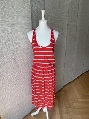 T-shirt Kleid rot-weiß gestreift mit Gummizug