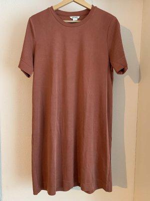 Monki Vestido estilo camisa rojo claro