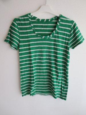 Marc O'Polo T-shirt groen-wit Katoen