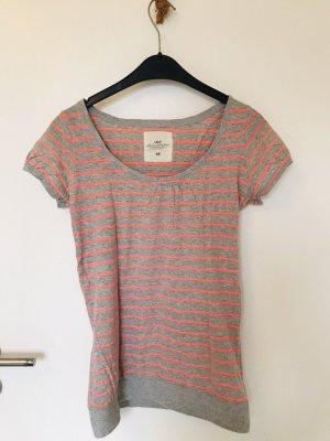 T-Shirt lang geschnitten Streifenlook