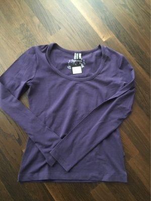 T-Shirt langarm lila Gr.XL neu mit Etikett