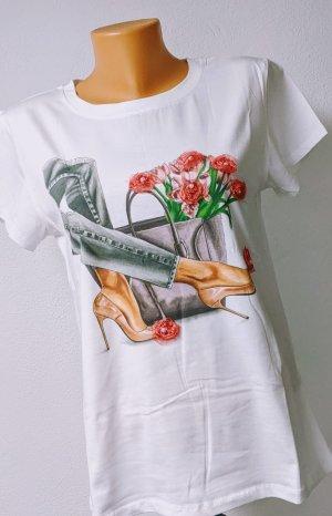 "T-Shirt ""Legs&Flowers"" Gr. 36-40 Einheitsgröße"