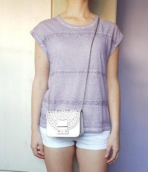 T-Shirt Lila Flieder Spitze Esprit Gr. S