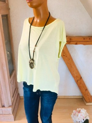 love fashion Wraparound Shirt lime yellow