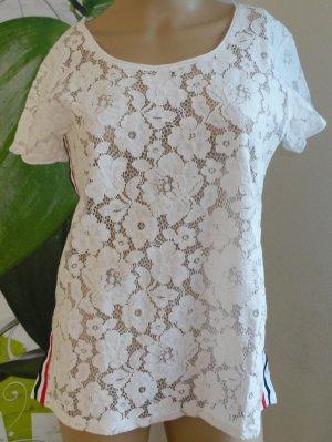 SusyMix Siateczkowa koszulka biały