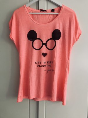 T-Shirt Maison Scotch korall Gr. S