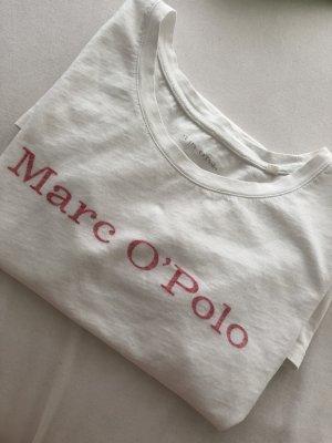Marc O'Polo T-shirt biały-różowy